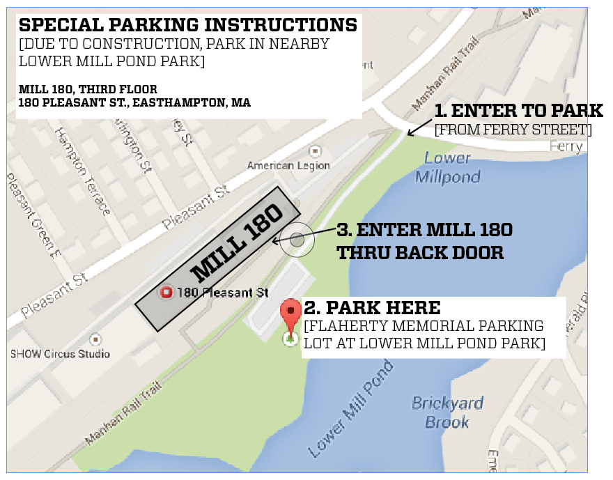Map of Mill 180 Parking