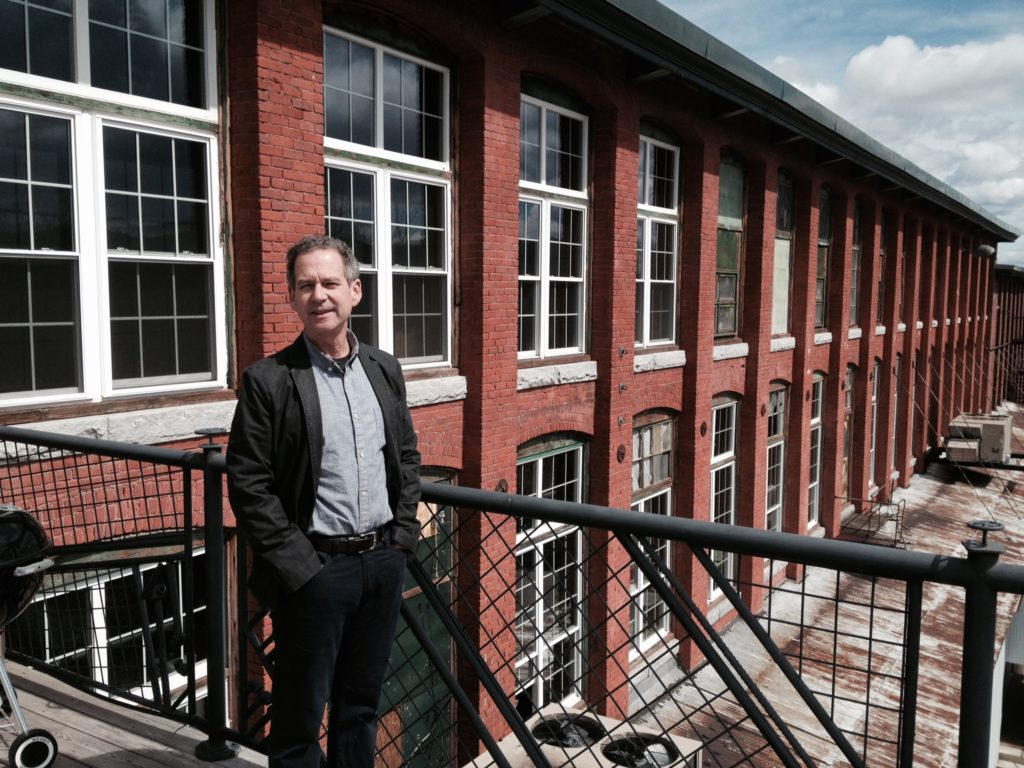Ken Botnick '79 outside Mill 180. Conway's new Easthampton facility is on the second floor.