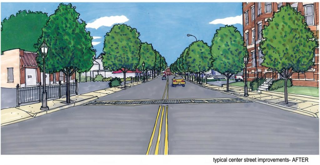The new vision for Chicopee includes adding street trees that will provide both environmental and social benefits for the city's residents.
